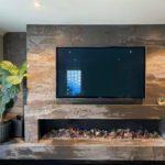 AGB Stone Dekton Trillium Fireplace